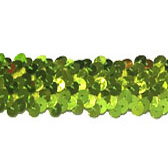 Elastic sequin trim, 3 rows, 1,2 wide - GREEN FLASH 7112