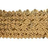 Elastic sequin trim, 6 rows, 2.4 wide - GOLD