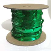 Elastic plate sequin 1 row  - EMERALD GREEN