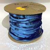 Elastic plate sequin 1 row  - STEEL-BLUE