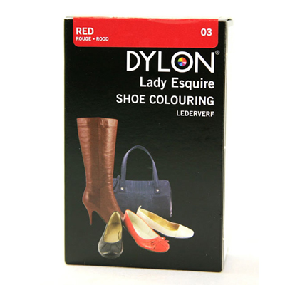 Dylon bőrcipő festék - RED