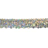 Holographic elastic sequin trim, 3 rows, 1,2