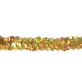 Holographic elastic sequin trim ,2 rows, 0.8