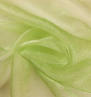 Organza anyag - APPLE GREEN