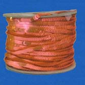 1 row 6 mm elastic fluorescent plate shape sequin - CORAL