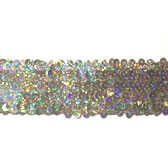 5 rows elastic sequin trim 1.8