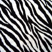 Zebra patterned