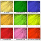 Fluorescent medium hardness for decorative tulle