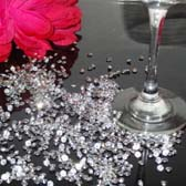Wedding table scatter crystal